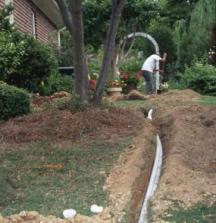 new sprinkler installation done by our irrigation contractors in Fairfield